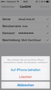 iPhone bestehende Kontakte