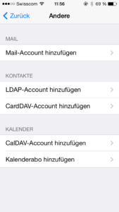 iPhone Mail-Account hinzufügen