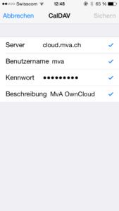 iPhone CalDav Hinzufügen