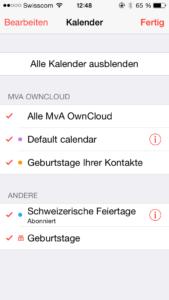 iPhone Kalender wählen