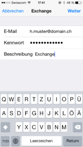 iOS Exchange 2016 Setup
