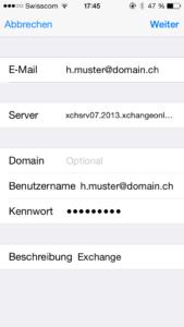 iOS Exchange 2013 Setup