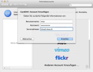 OS X Internetaccounts CardDav Setup