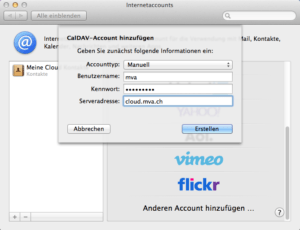 OS X Internetaccounts CalDAV