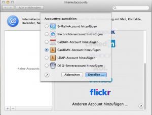 OS X Internetaccounts CardDAV