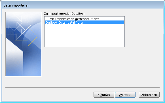 outlook-2013-import-datendatei-pst