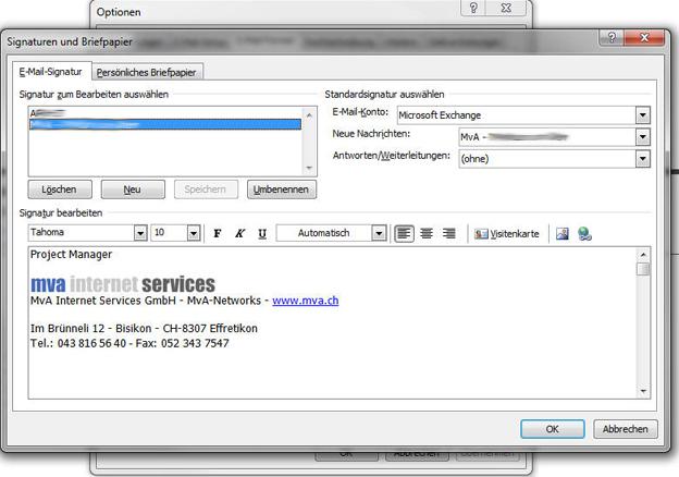 Erstellen Und Bearbeiten Von Signaturen Im Outlook 2007
