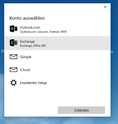 Windows 10 Mail Setup Exchange 2013