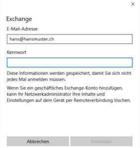 Windows 10 Mail Setup Exchange 2013